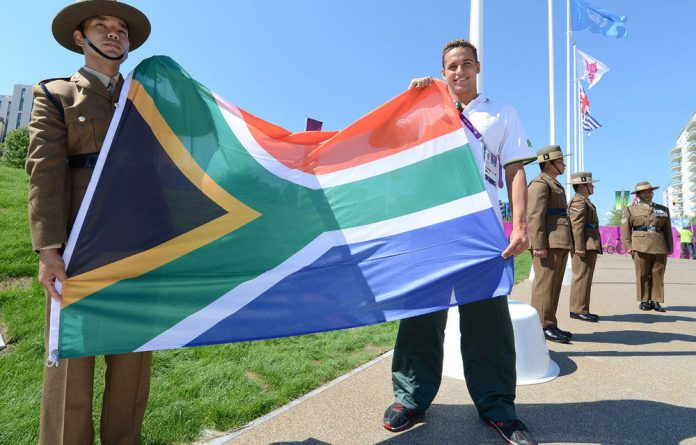 A soldier of the 36 Engineering Regiment and South African swimmer