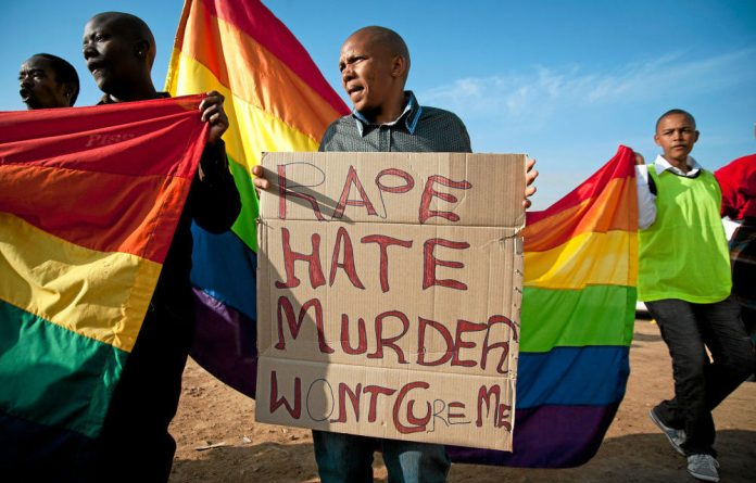 Intolerance: A black South African lesbian is considered lucky to have avoided rape