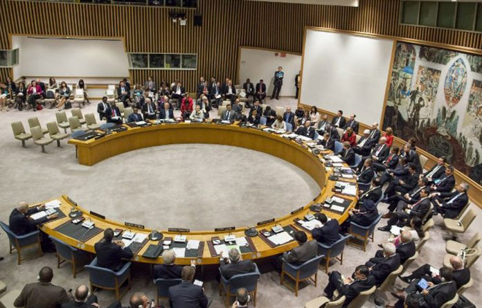 Secretary General Ban Ki-moon speaks during a United Nations Security Council meeting on peace and security in Middle East on September 26 2012 in New York.