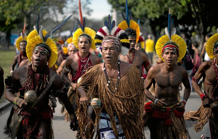 Members of Brazil's Pataxo people claim nothing is being done about the theft of their land by farmers and the loss of their water through the damming of rivers upstream.