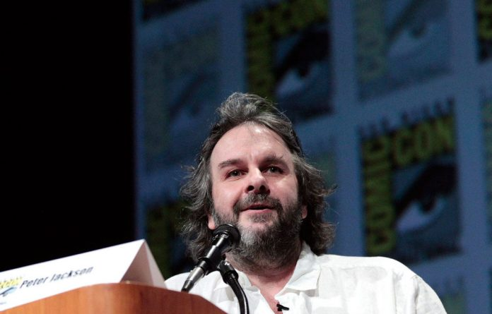 Director Peter Jackson speaks during a panel for 'The Hobbit: An Unexpected Journey' during Comic Con International convention in San Diego.