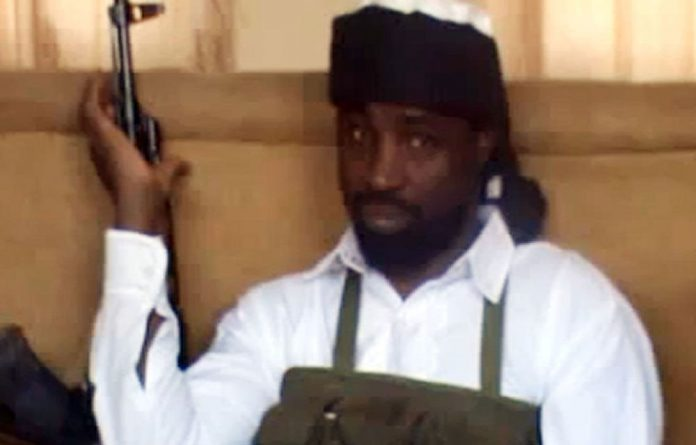This still picture posted on YouTube reportedly shows Abubakar Shekau