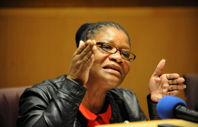 National Council of Provinces chairperson Thandi Modise.