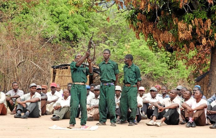 Members of former Mozambican rebel movement Renamo