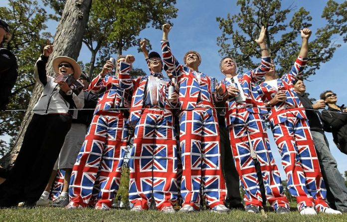 Fans at a practice round at this year's Ryder Cup.