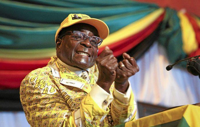 A file photograph of Zimbabwe President Robert Mugabe
