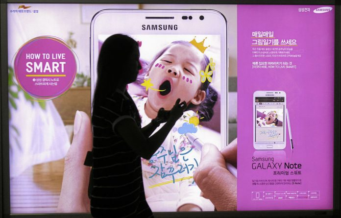 Samsung's shares plunged after a ruling in the US last week that it had copied key elements of Apple's technology.