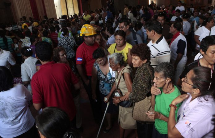 Thousands evacuated from Roman Catholic Cathedral after 6.6 magniuted hits Nicaragua.