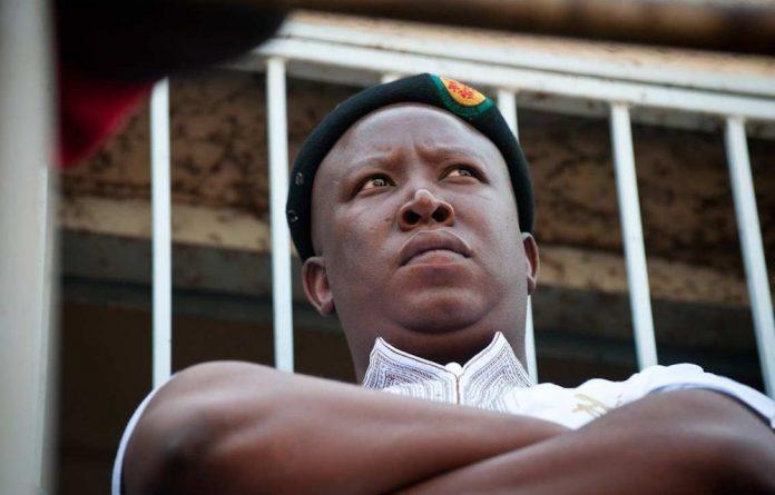 Malema spoke to the miners