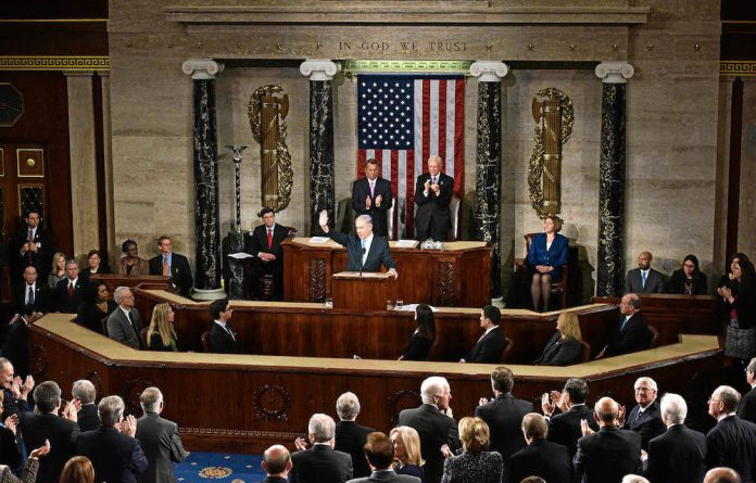 Warning: Israel's Prime Minister Binyamin Netanyahu told the US Congress that talks with Iran could enable the Middle East country to stockpile nuclear weapons.