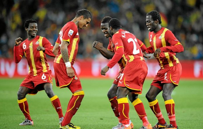 Azonto style: Even Ghana's footballers have joined in the country's latest dance craze.