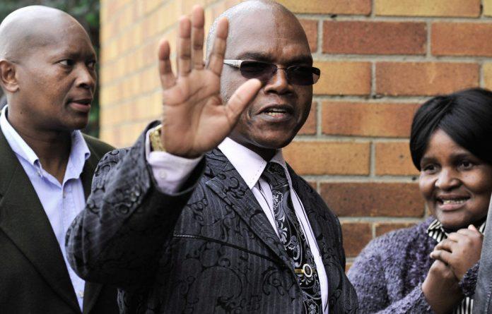 Suspended former intelligence chief Richard Mdluli.