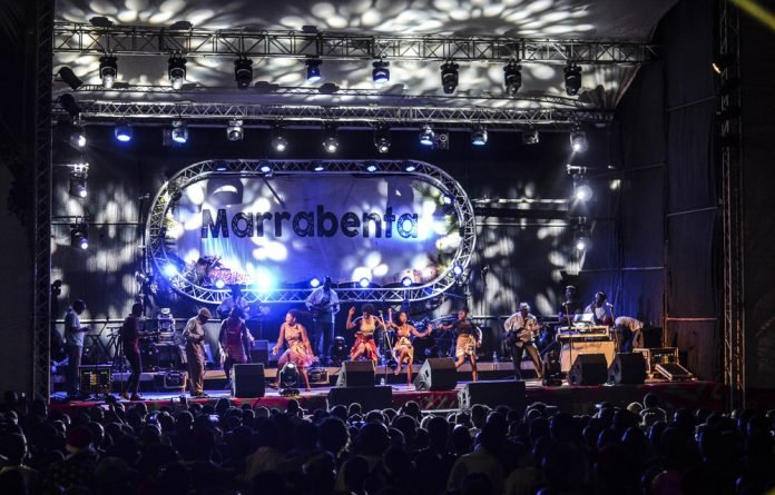 Compass: The Marrabenta Festival takes place at venues in various parts of Mozambique. Pictured above is an ensemble led by Dilon Djindji