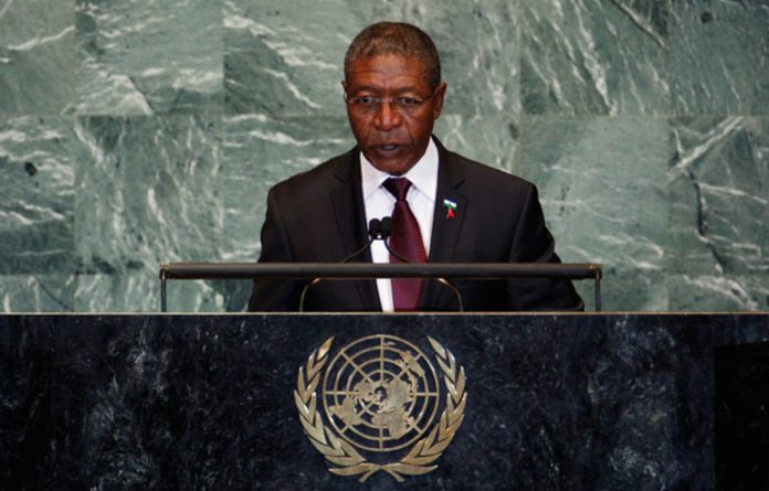 Lesotho PM Pakalitha Mosisili.