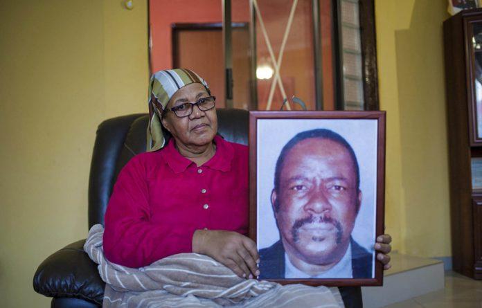 Painful: Daughter Mavis Nthsaba is shocked