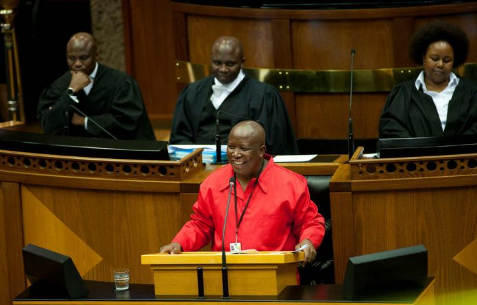 Malema suggested that the ANC in Gauteng is at odds with the leadership of President Jacob Zuma.