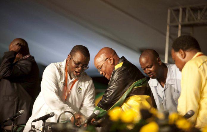 Gwede Mantashe and Jacob Zuma.