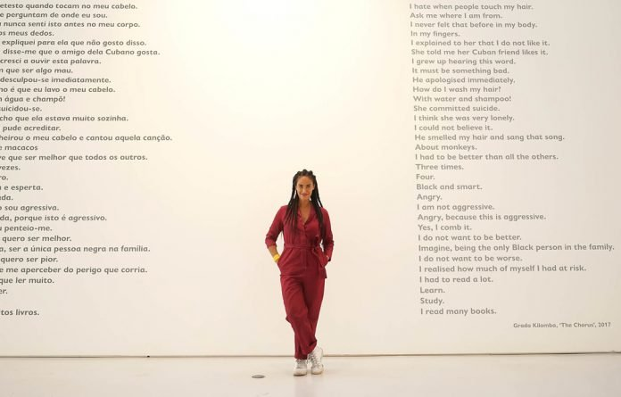 Speaking the Unspeakable: The use of text is a major feature in this show by Grada Kilomba.