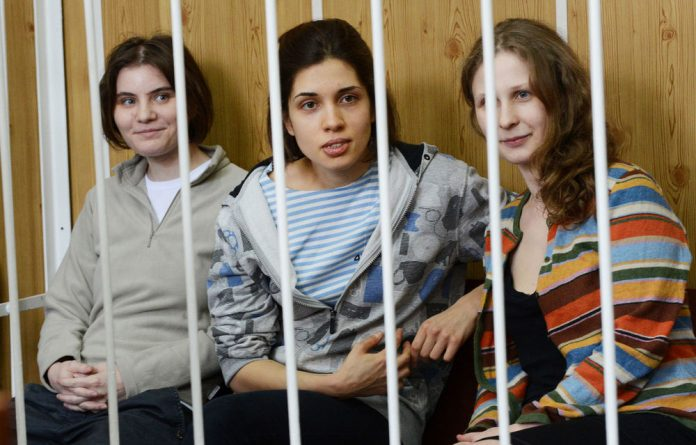 Two members of punk band Pussy Riot have been taken to remote Russian prison colonies.