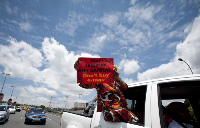 Cosatu has long protested the implementation of e-tags on South African roads.