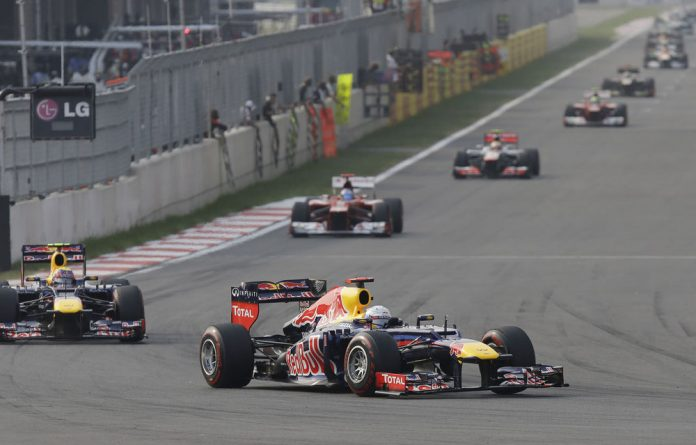 Red Bull driver Sebastian Vettel leads teammate Mark Webber in the Korean Grand Prix in Yeongam on October 14.