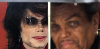 A file photograph of star Michael Jackson and his father Joe Jackson in 2005.