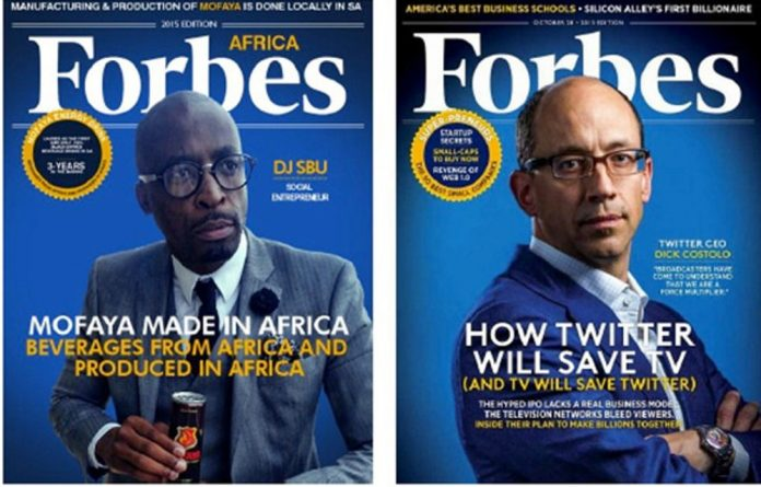 Fake cover Forbes Africa.