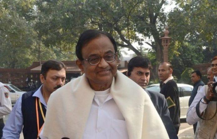 Indian Finance Minister P Chidambaram.