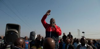 Julius Malema told a gathering at Marikana on Saturday that the National Union of Mineworkers were sellouts