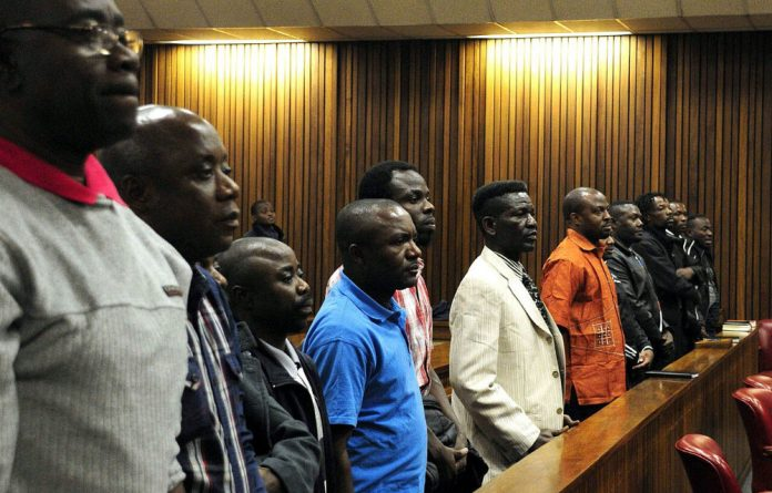 The group accused of plotting a coup in DRC in the Pretoria high court.