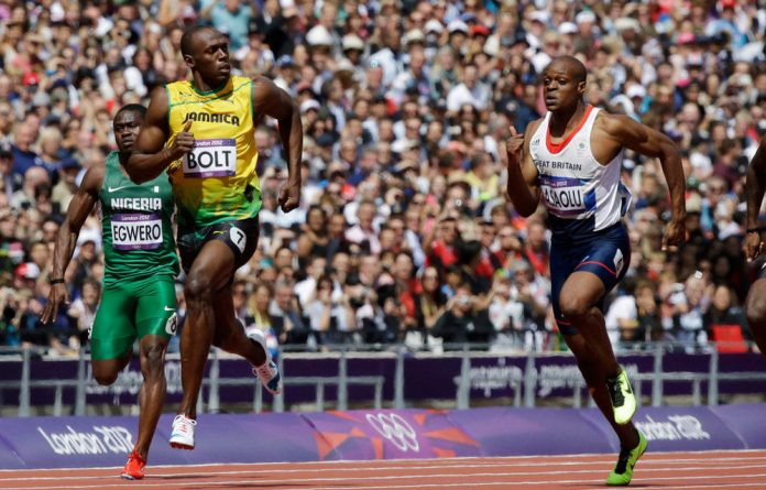 Usain Bolt blitzed his way down the track to win in 9.63 seconds in the Olympic 100m.