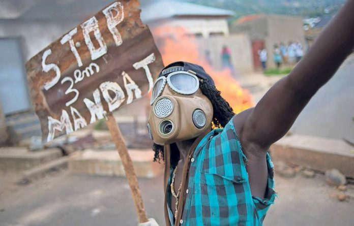 Third force: President Pierre Nkurunziza's bid to run for a third term in defiance of the country's Constitution has provoked widespread anger and protests in Burundi and uncertainty in the region.