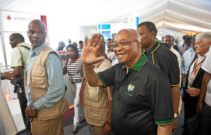 President Jacob Zuma began a door-to-door campaign in Cape Town ahead of the ANC's anniversary celebrations to be held in the city.