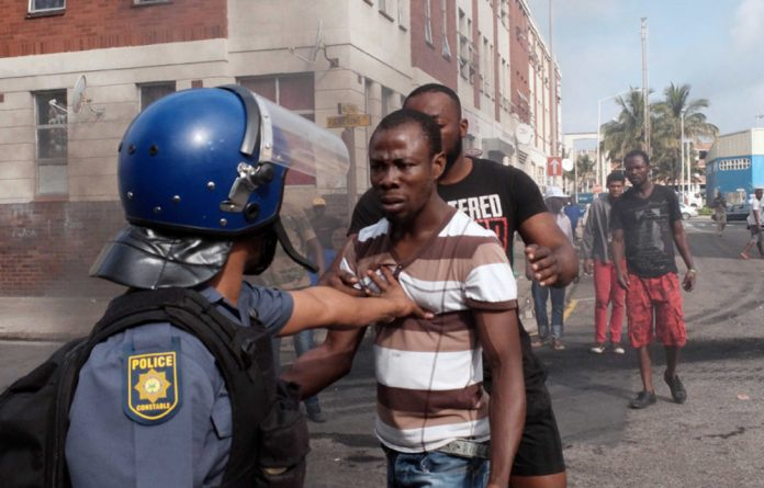Xenophobic violence in Durban.