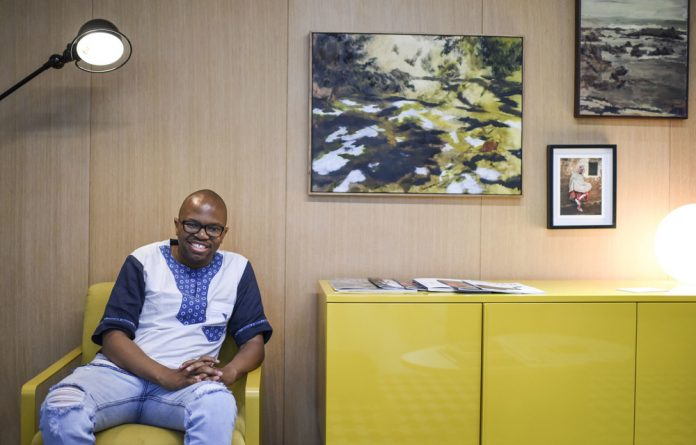 Glass act: Zibusiso Mkhwanazi says the advertising industry isn't owned by South Africans — but his new network of agencies is determined to stir things up