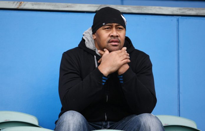 Jonah Lomu during the Australian national rugby team training session at North Harbour Stadium.