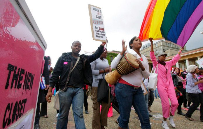 Members of the University of the Western Cape's rights group 'Gayla UWC' claim security failed to intervene in an assault on a transgender student.