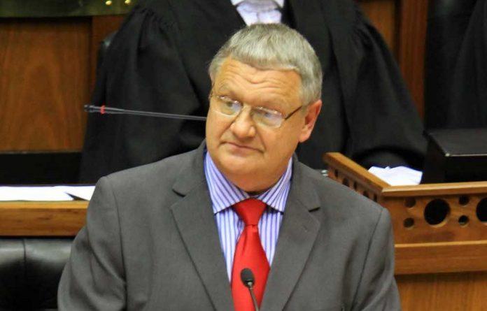 FF Plus party leader Pieter Mulder.
