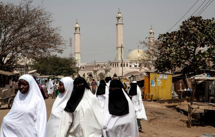 Fear factor: Most women in predominantly Muslim areas of Nigeria wear hijabs or niqabs