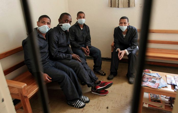 Detainees await tuberculosis testing at Pollsmoor