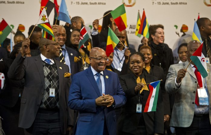 President Jacob Zuma at the African Union summit in Johannesburg.