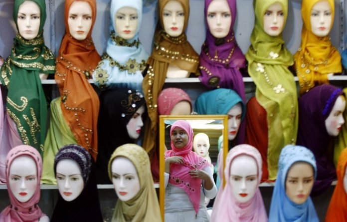 Pick a colour: There is no shortage of choice for those wanting to wear the hijab.