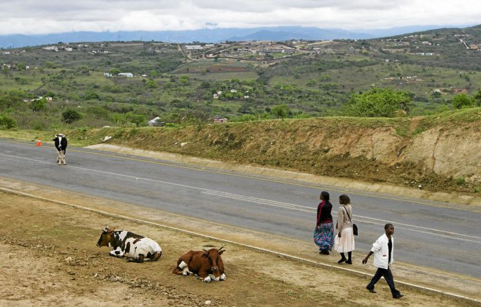 A new road happens to lead to our president's private residence in Nkandla