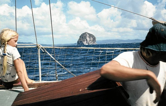 Ups and downs: Martinique Stilwell as a child on her family's yacht.