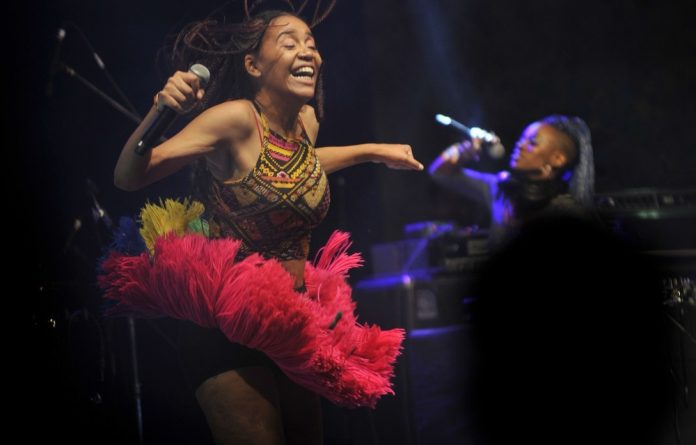 While her performance at Bushfire Festival was colourful and energetic