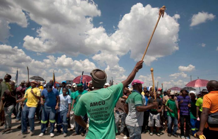 Members of Amcu at Lonmin