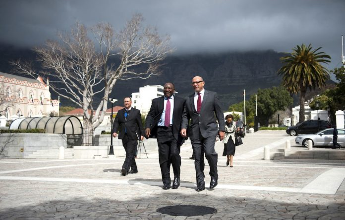 Change agents: Cyril Ramaphosa and Trevor Manuel have both stressed the need for a more professional public service.