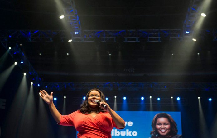 Former DA Parliamentary leader Lindiwe Mazibuko will not raise her hand to lead the official opposition party.