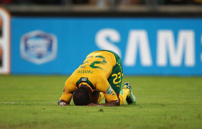 Tokelo Rantie of Bafana Bafana