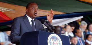 Around 13 mostly African heads of state are expected to attend the ceremony where Kenyatta